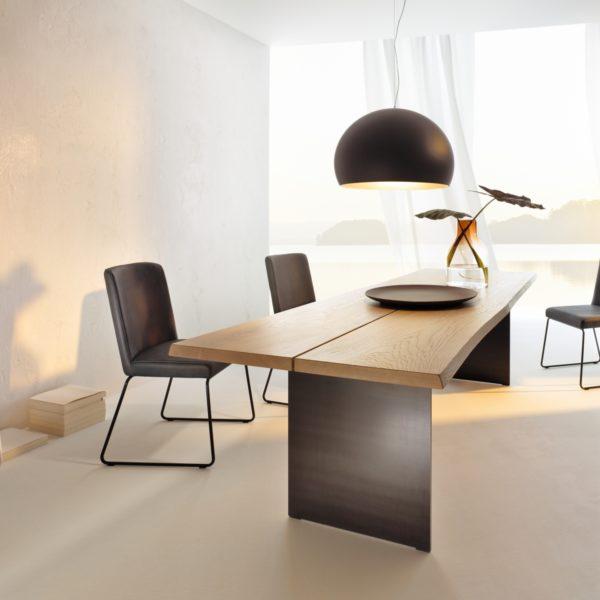 Stamm Tisch Rustico in Asteiche weiß geölt
