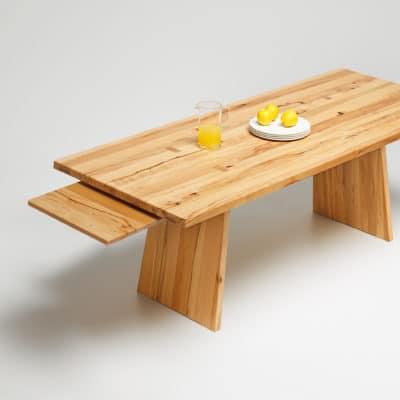 Tisch Puro in Wildkernbuche - Auszug Step 1