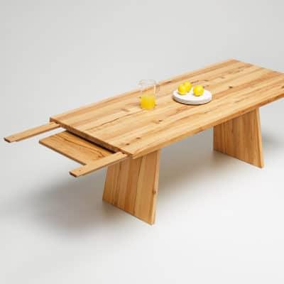 Tisch Puro in Wildkernbuche - Auszug Step 2