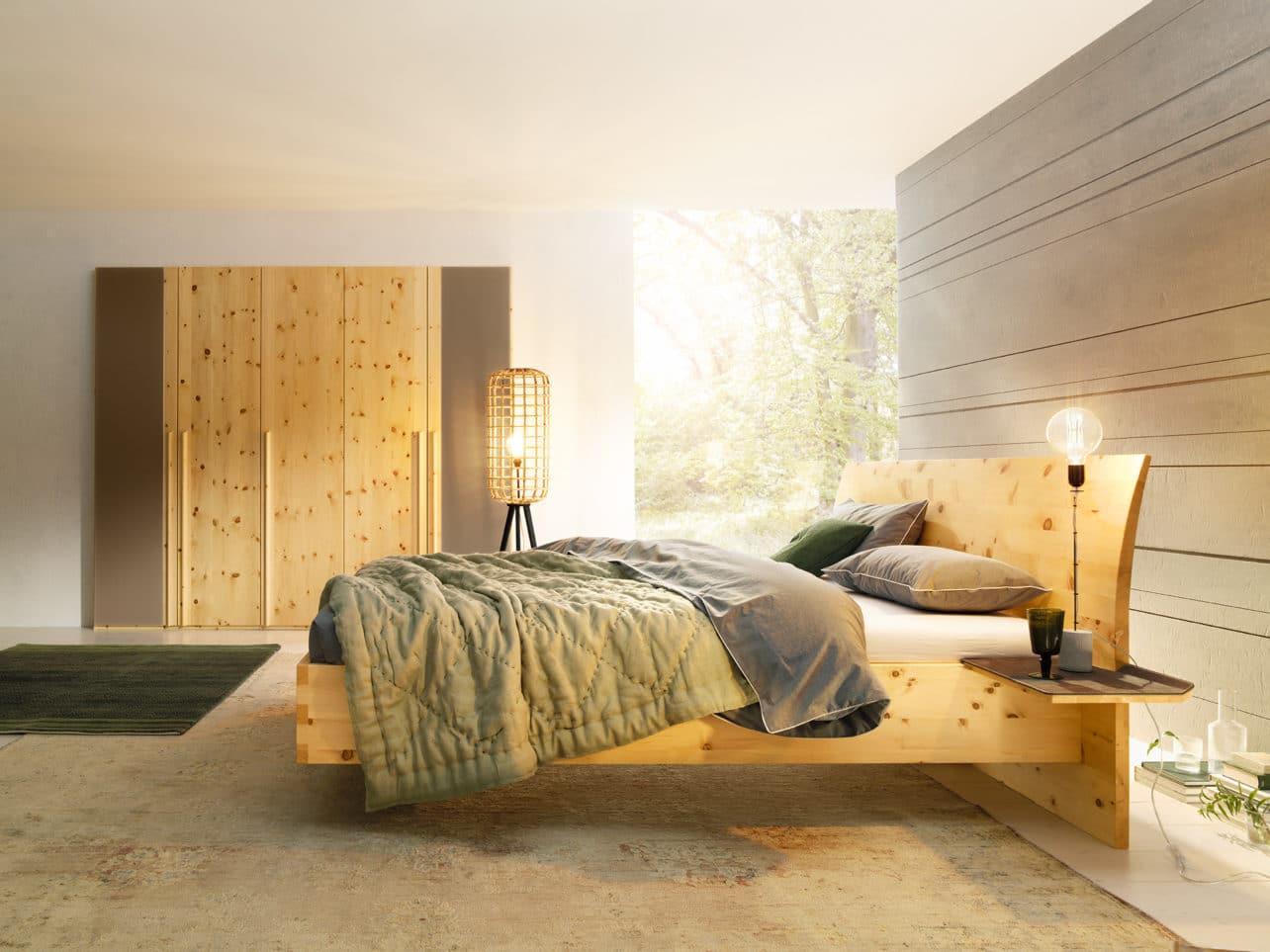 Schlafzimmer Paso in Zirbe natur geölt