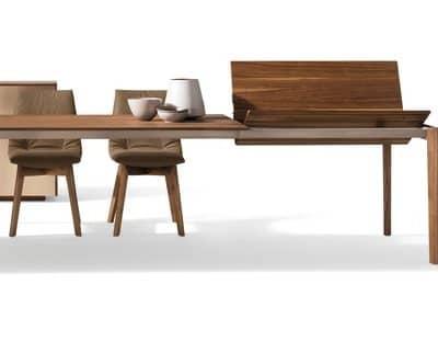 Tisch Tak in Nuss mit Auszug 100 cm.